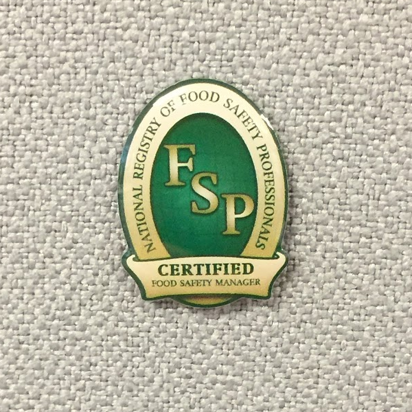 Certified Food Safety Manager Lapel Pin